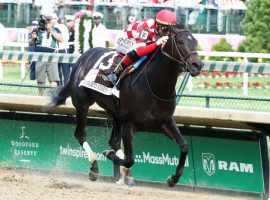 Serengeti Empress, seen here winning the Kentucky Oaks last May, has endured a roller-coaster career. She is the favorite coming into Saturday's Apple Blossom Stakes. (Image: Churchill Downs)
