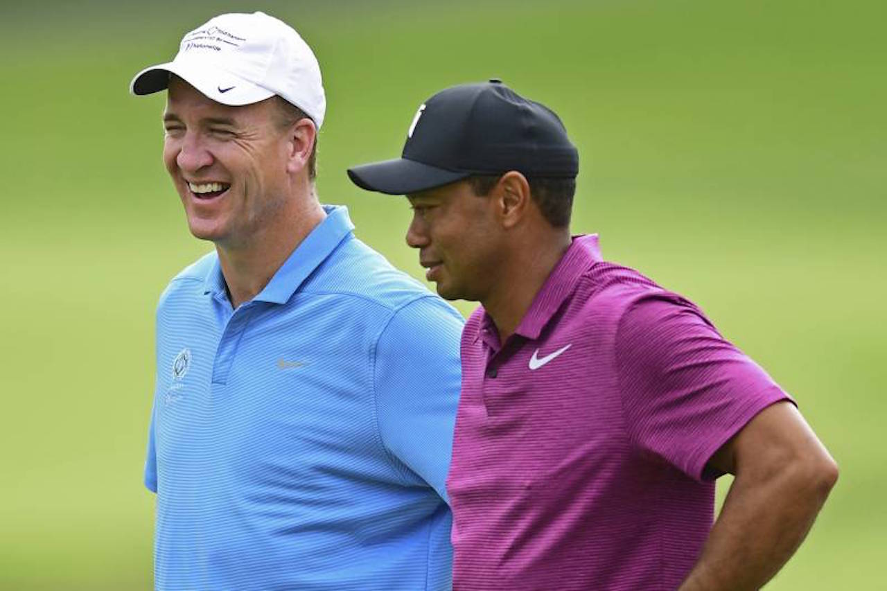 Peyton Manning Tiger Woods Tiger-Phil match