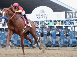 The coronavirus moved the Belmont Stakes to a new June date and a new shorter distance. It will run 1 1/8 miles instead of 1 1/2. (Image: AP Photo)