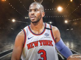 In the latest NBA rumor, the Knicks are seeking a trade for Chris Paul. (Image: Clutch Points)
