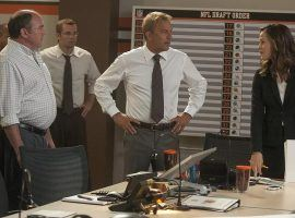 """Draft Day"" stars Kevin Costner and Jennifer Garner in a football movie about the NFL Draft. (Image: Lionsgate)"
