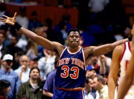 New York Knicks center Patrick Ewing during a game against the New Jersey Nets at the Meadowlands in the late 1990s. (Image: Nathaniel S. Butler/Getty)