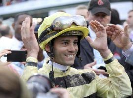 Flavien Prat's surprise at winning last year's Kentucky Derby via disqualification yielded to amazement at winning six races in one day Sunday. (Image: AP Photo/Greg Payan)