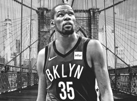 Kevin Durant has yet to play for the Brooklyn Nets while he recovers from a blown Achilles. (Image: Amber Matsumoto/Yahoo Sports)