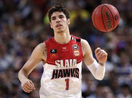LaMelo Ball playing for the Illawarra Hawks in Australia's NBL. (Image: Rick Rycroft/AP)