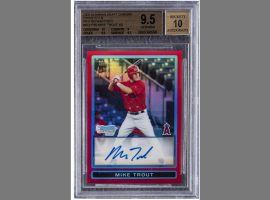 Mike Trout's autographed rookie card was one of only five