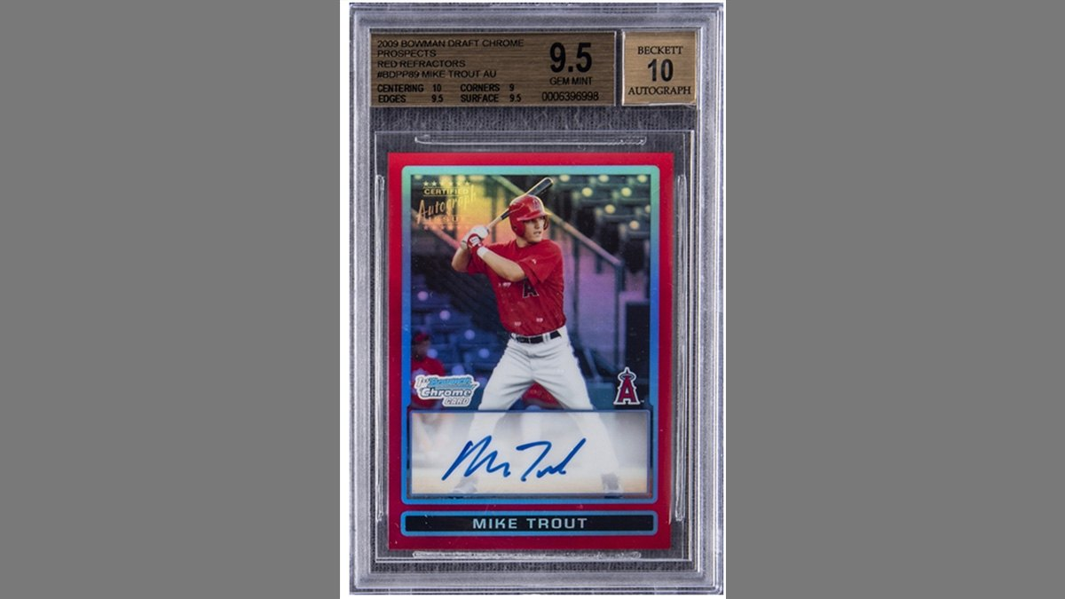 Mike Trout rookie card sets record at auction