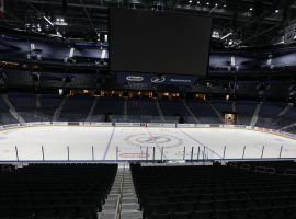 Amalie Arena, home of the Tampa Bay Lightning, sits empty during the COVID-19 pandemic. (Image: Chris Urso/Tampa Bay Times)