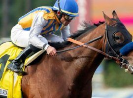 Bob Baffert's unbeaten Nadal is the 5/2 favorite in the tougher of the two Arkansas Derby divisions. (Image: AP)