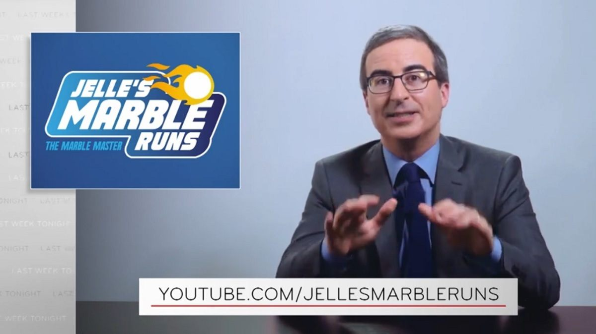 John Oliver HBO Marble Racing Olympics Jelle