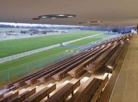 The grandstands and boxes at ParisLongchamp will be empty for Monday's racing return outside the French capital. (Image: Vincent Fillon)