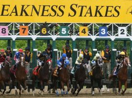 The starting gate for the 2020 Preakness Stakes opens Oct. 3 instead of May 16. The second jewel of the Triple Crown runs outside May for the first time in 75 years. (Image: Emma Patti Harris/Zuma Press)