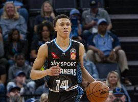 Point guard RJ Hampton during a game for the New Zealand Breakers in the NBL. (Image: Justin Ford/USA Today Sports)
