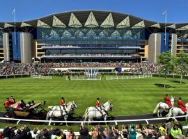 The pomp and pageantry of Royal Ascot could be3 on hold if the British government further postpones racing's resumption. It pushed openings back until June 1 at the earliest. (Image: Getty)