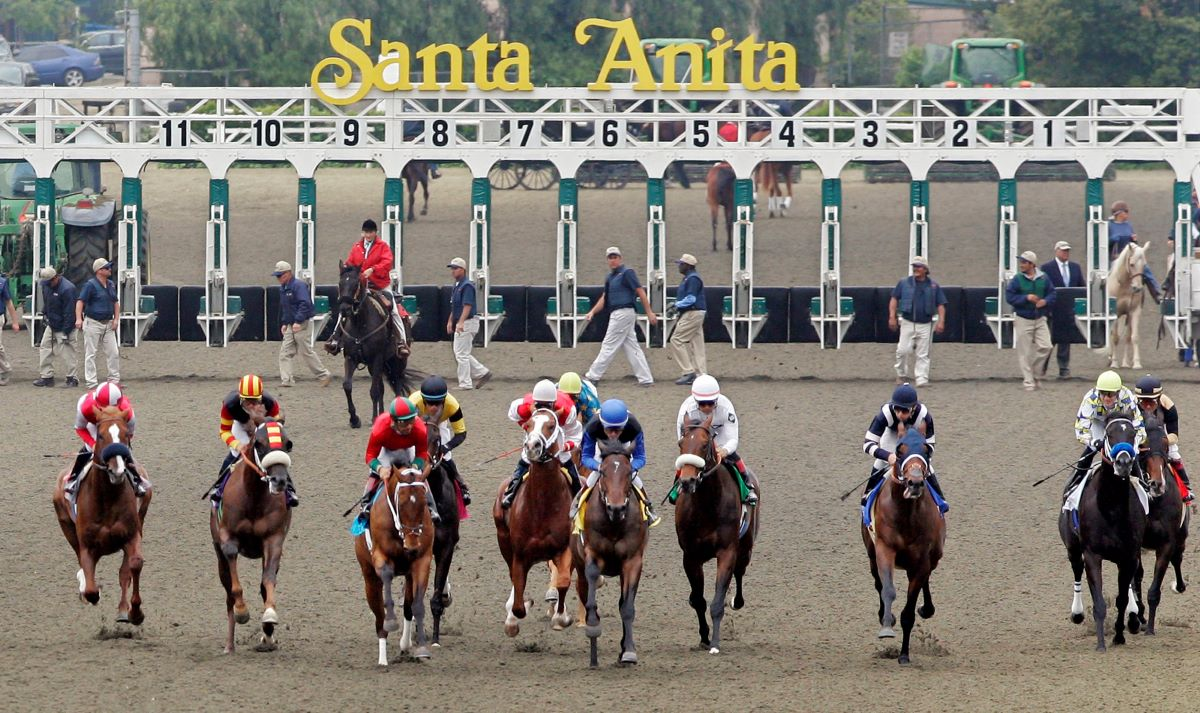 Santa Anita Horses Break