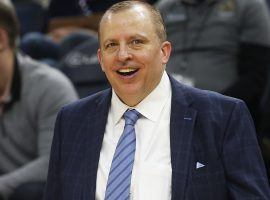 Tom Thibodeau, ex-coach of the Minnesota Timberwolves, could land a head coaching job with the Knicks, Nets, or Rockets. (Image: Jim Mone/AP)