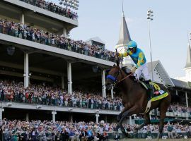 Victor Espinoza aboard American Pharoah ended the 2015 Road to the Kentucky Derby. The new Derby Trail resumes at Churchill Downs May 23. (Image: AP Photo/David J. Phillip)