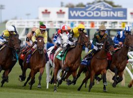 Starting June 6, with provincial government approval, horses will hit the first turn at Canada's Woodbine Racetrack. (Image: Woodbine)