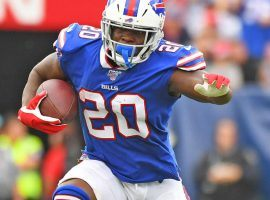 Running back Frank Gore scampers to the end zone for the Buffalo Bills last season. (Image: Porter Lamber/Getty)