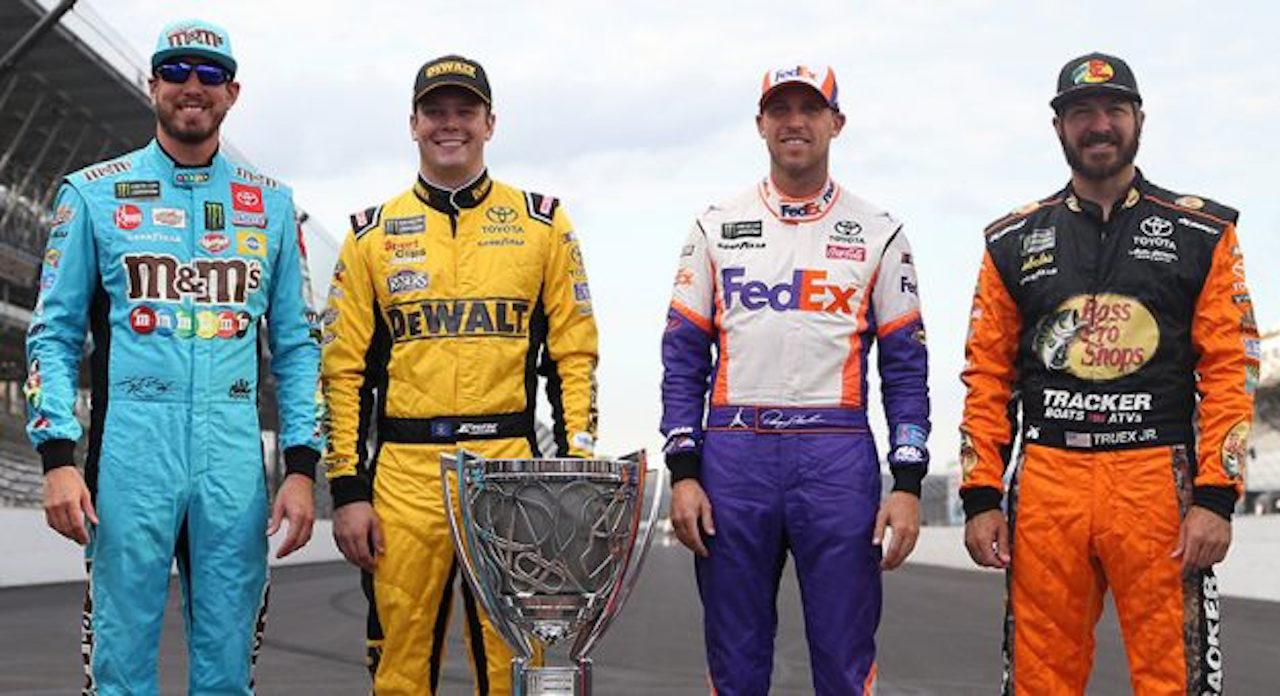 Kyle Busch, Erik Jones, Denny Hamlin, and Martin Truex Jr. Coca-Cola 600