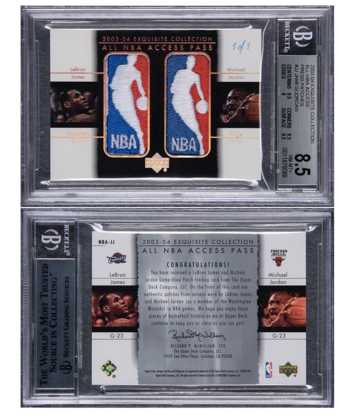 A rare Lebron James, Michael Jordan card sold for $900,000 at auction