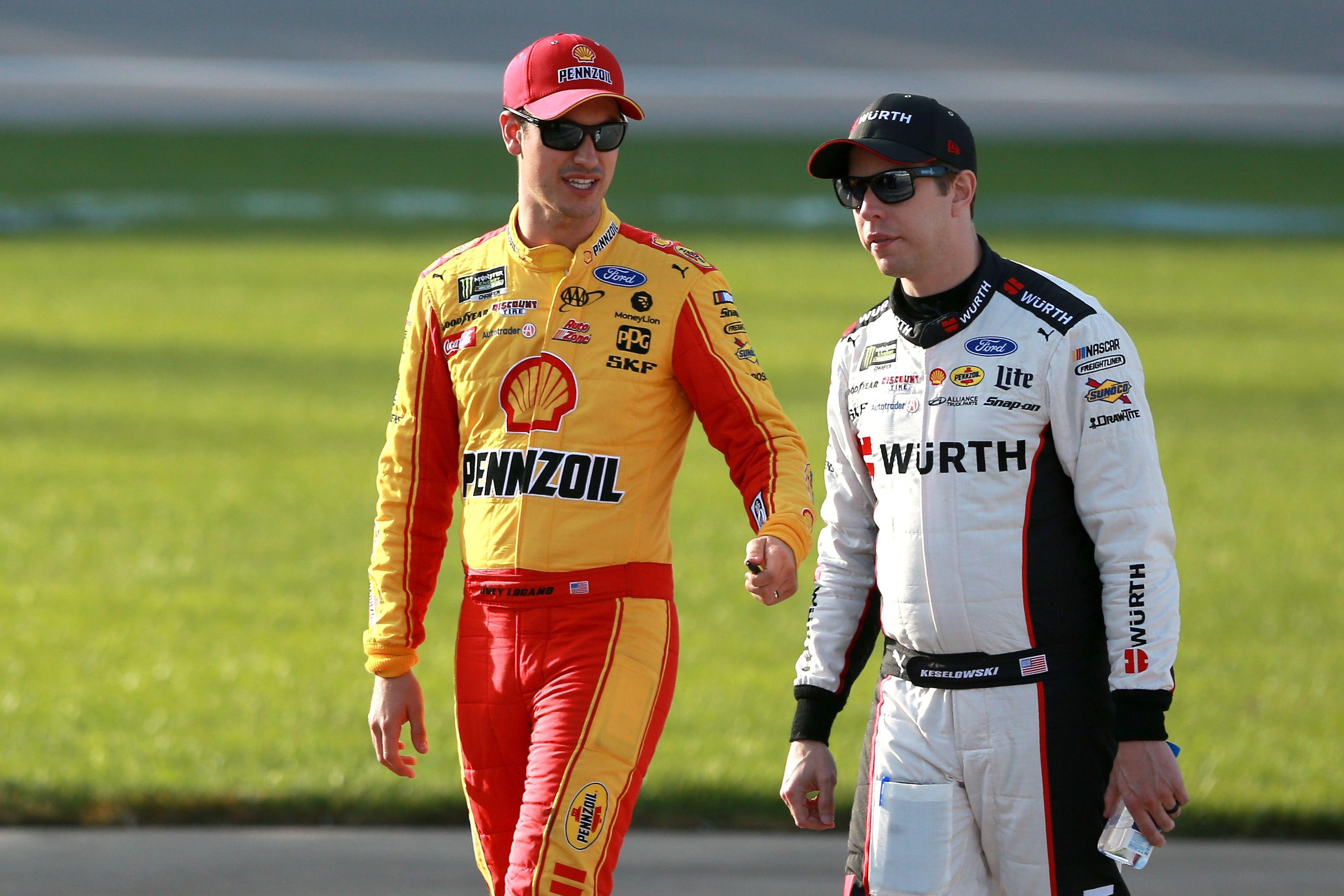 Joey Logano, Brad Keselowski Darlington race