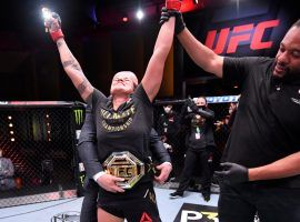 Amanda Nunes wins her UFC 250 fight against Felicia Spense by unanomous decision. (Image: Jeff Bottari/Getty)