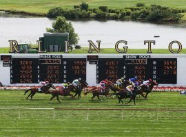 The Arlington Park finish line won't have some of the world's top Thoroughbred horses sprint through it this year. Track officials and Illinois horsemen can't reach an agreement on 2020 racing. (Image: John J. Kim/Chicago Tribune
