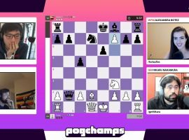 Boxbox and Forsen played the best match of the Pogchamps tournament thus far on Tuesday, with Boxbox coming out on top after a blitz tiebreaker. (Image: Chess.com/Twitch)