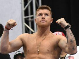 Canelo Alvarez is interested in fighting this September without fans in attendance, though a date and opponent are still up in the air. (Image: Ethan Miller/Getty)