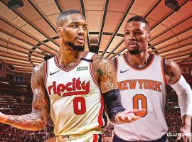 The Portland Trail Blazers almost dealt Damian Lillard to the New York Knicks two years ago. (Image: Clutch Points)