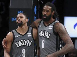 Spencer Dinwiddie (left) and DeAndre Jordan (right) during a game at Barclays Center in Brooklyn, NY. (Image: AP)