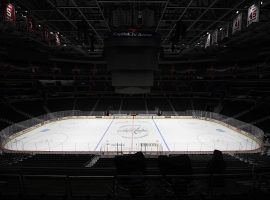 Empty Capitol One Arena, home of the Capitals, in Washington, DC. (Image: Nick Wass/AP)