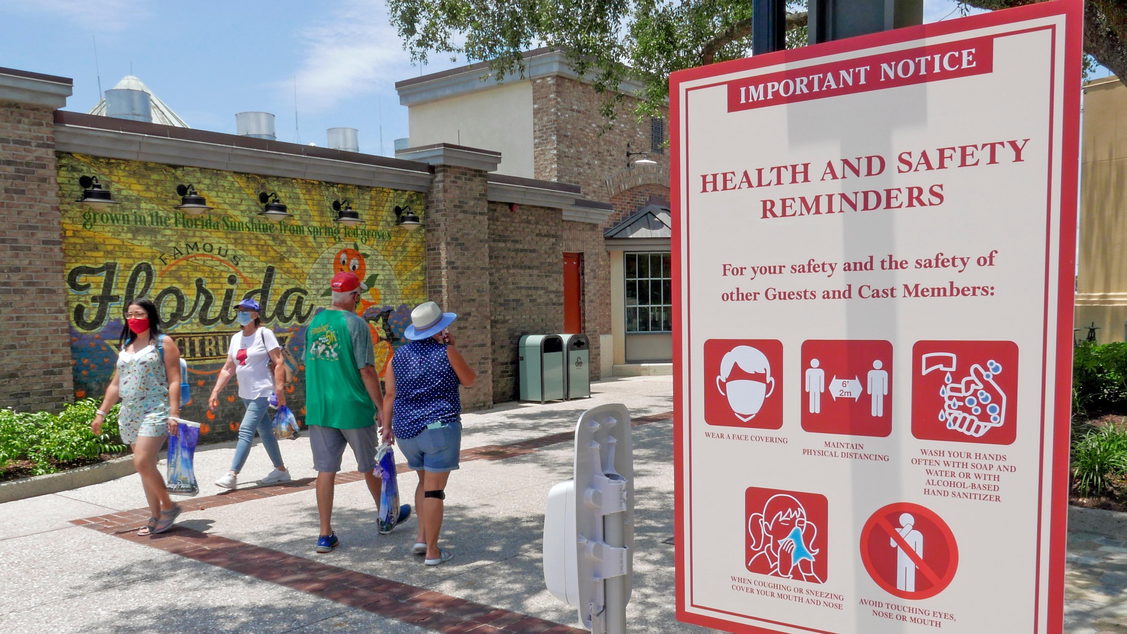 Florida coronavirus spike sports