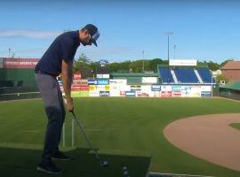 Portland Sea Dogs transformed their minor league ballpark to become a temporary golf course at Hadlock Field. (Image: YouTube)