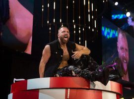 AEW champion Jon Moxley opted out of the company's Wednesday night television show after his wife, WWE broadcaster Renee Young, tested positive for COVID-19. (Image: Ricky Havlik/Forbes)
