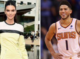 Model Kendall Jenner and NBA star Devin Booker (of the Phoenix Suns) have been romantically linked according to the Hollywood tabloids. (Image: Harpers)