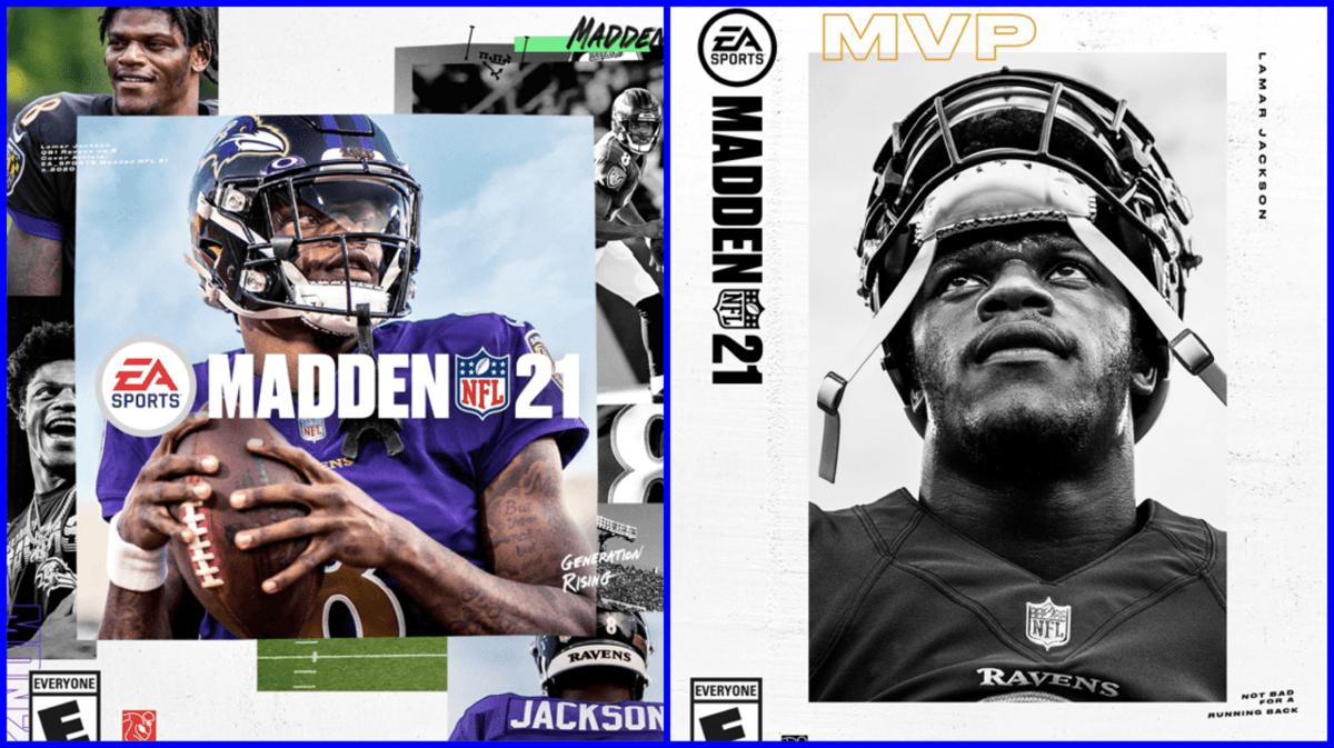 Madden 21 Football video game cover Lamar Jackson