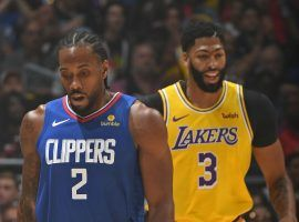 Sportsbooks have released point spreads for the first set of NBA games in Orlando, with the Clippers opening as a one-point favorite over the Lakers. (Image: Andrew D. Bernstein/NBAE/Getty)