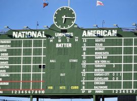 The centerfield scoreboard at Wrigley Field, home of the Chicago Cubs. (Image: Patrick Gorski/USA Today Sports)