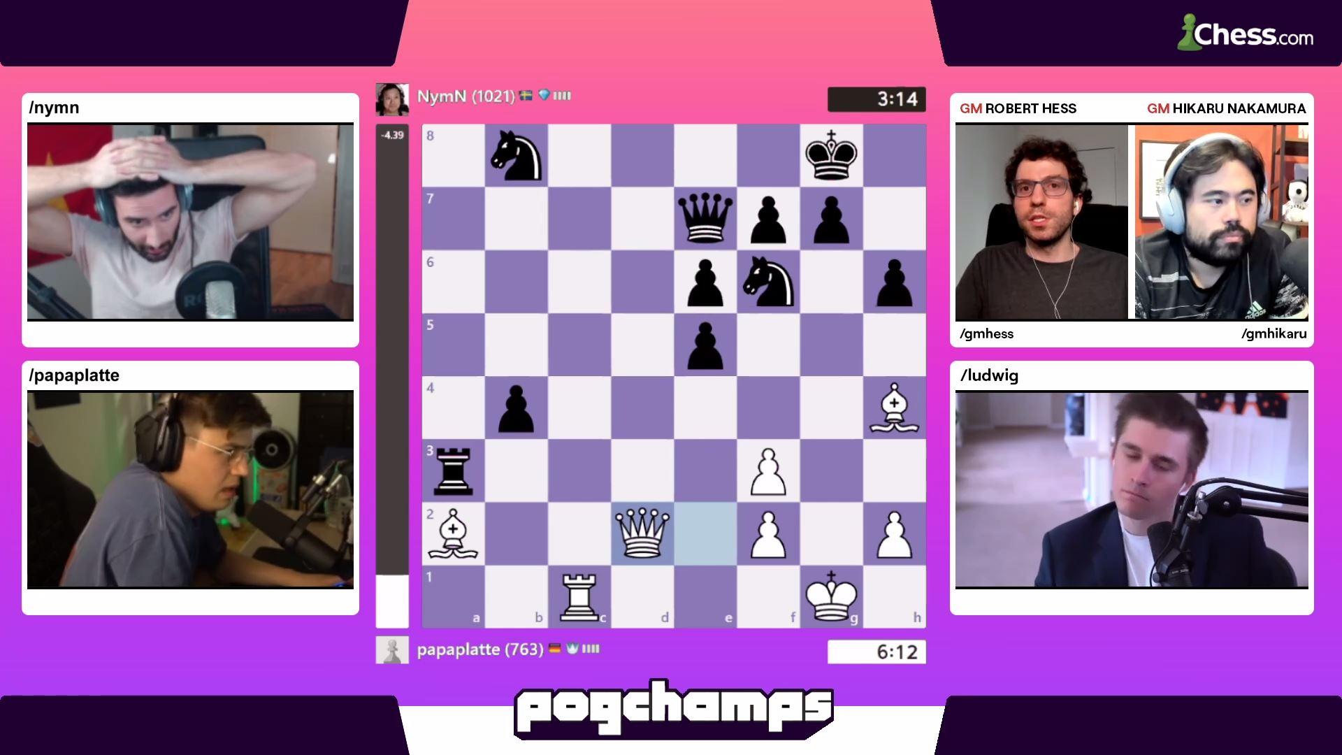 Pogchamps bracket chess Twitch
