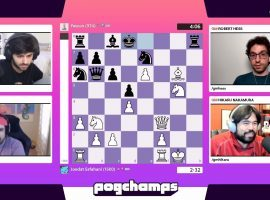 Voyboy advanced to the Pogchamps semifinals with a commanding 2-0 win over Yassuo. (Image: Chess.com/Twitch)