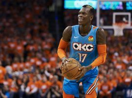 Oklahoma City Thunder guard Dennis Schorder during a game against the Houston Rockets in 2020. (Image: Cooper Neill/Getty)
