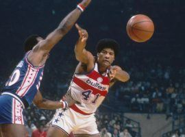 Power-forward Wes Unseld with the Baltimore Bullets in the late 1970s. (Image: Getty)