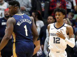 New Orleans Pelicans PF Zion Williamson and Memphis Grizzlies PG Ja Morant in 2020. (Image: Marco Esquondoles/Getty)