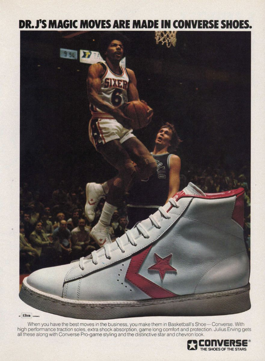 Converse ad features Julius Erving aka Dr. J.