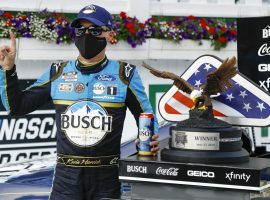 Kevin Harvick won on Saturday, and said he is a big fan of NASCAR's Pocono doubleheader. (Image: AP)