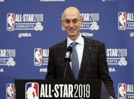 NBA commissioner Adam Silver told Time that he's still confident about the NBA restart, but that the coronavirus pandemic could still disrupt the league's plans. (Image: Gerry Broome/AP)