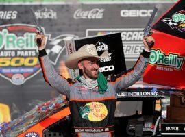 Austin Dillon won the O'Reilly Auto Parts 500 at Texas Motor Speedway on Sunday. (Image: Chris Graythen/Getty)