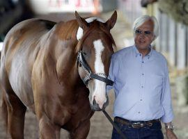 Seen here with 2018 Triple Crown winner Justify, trainer Bob Baffert plans fighting the positive drug tests of Charlatan and Gamine. (Image: Julio Cortez/Associated Press)